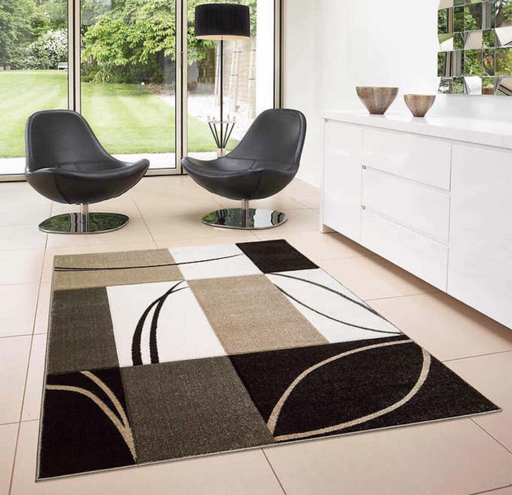5x7 New Area Rug Geometric Earth Tone Pattern - Delivery Available $60