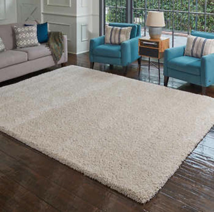 "Thomasville Rialto Beige Shag Area Rug 7'10""x10' - Delivery Available $225"