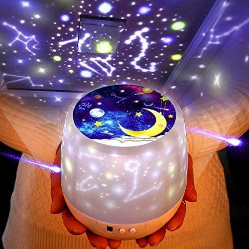 Night Lights for Kids -Luckkid Multifunctional Night Light Star Projector Lam