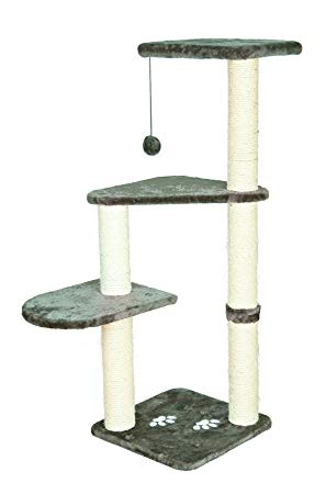 "Trixie DreamWorld Altea Platinum Gray Cat Tree, 46"" H"