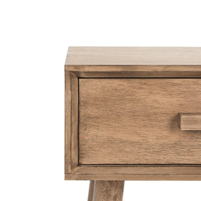 Lyle Desert Brown Storage Side Table by Safavieh