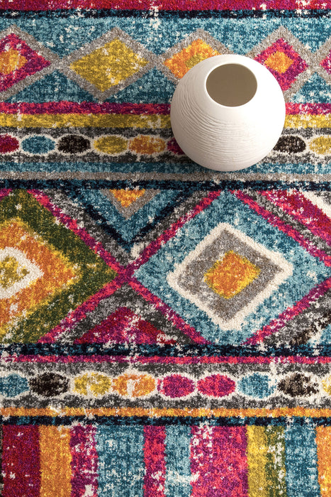 8x10 NuLoom Nettles Retro Tribal Rug (Multi) from Carnival by NuLoom