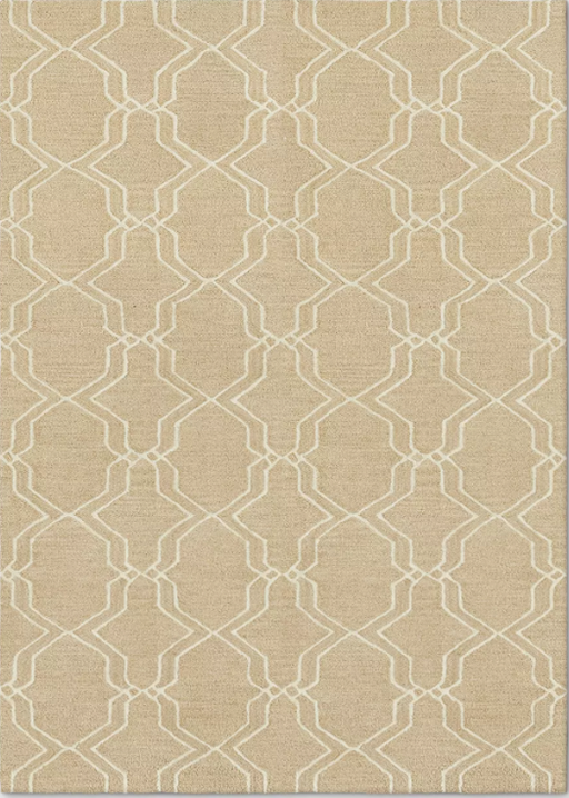 5'X7' Trellis Elevated Fretwork Tufted Area Rug Tan - Threshold™