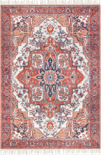 nuLOOM Preston 5' x 8' Rust Area Rug