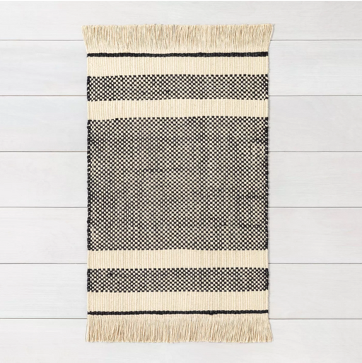 Size 3'x5' Color Black Jute Rug - Hearth & Hand™ with Magnolia