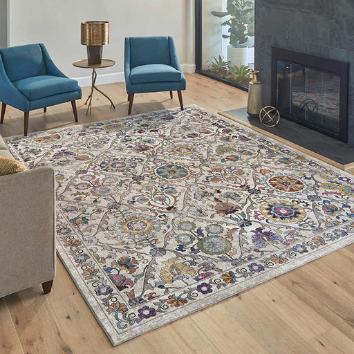 "6'x6""x9'6"" Color : Ivory Weave Type Woven Carmen Rug Collection, Bellea Area Rug"
