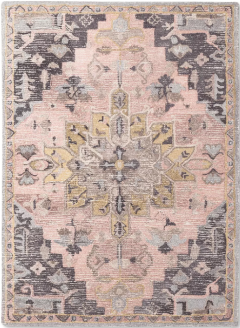 Size 5'X7' Damask Tufted Vintage Wool Rug - Threshold™