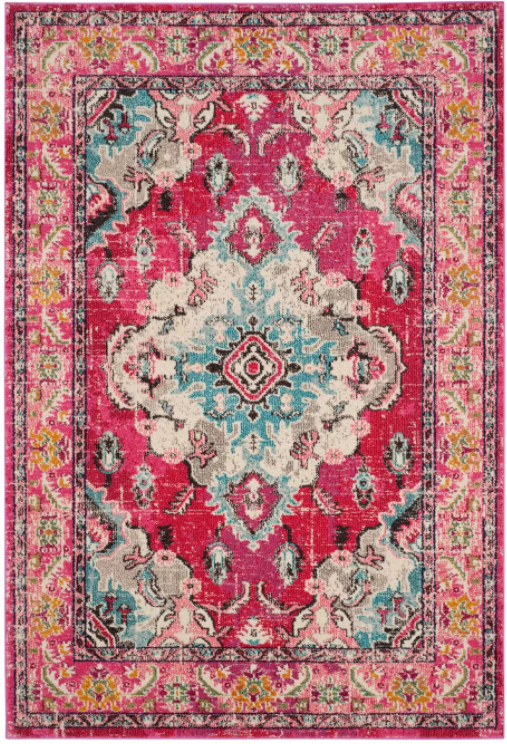 Size 8'X10' Color Pink Saniya Rug - Safavieh