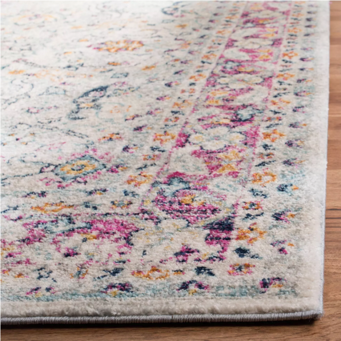 Size 9'x12' Gregoria Rug Color Cream/Fuchsia - Safavieh