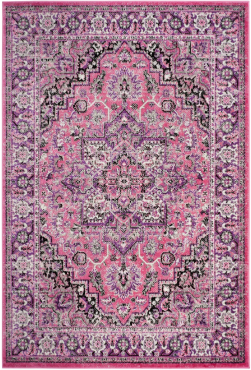 Size 8'X10' Color Pink/Ivory Reagan Loomed Rug - By Safavieh