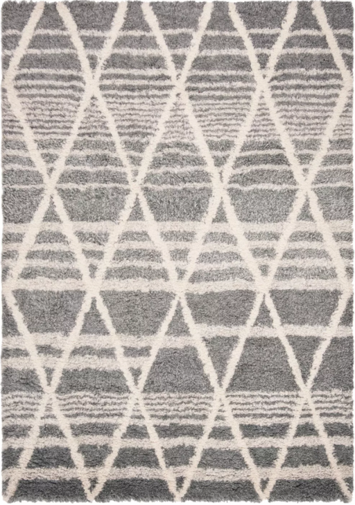 Size 5' x 8' Color Grey/Ivory Casablanca Hand Tufted Moroccan Rug - Safavieh