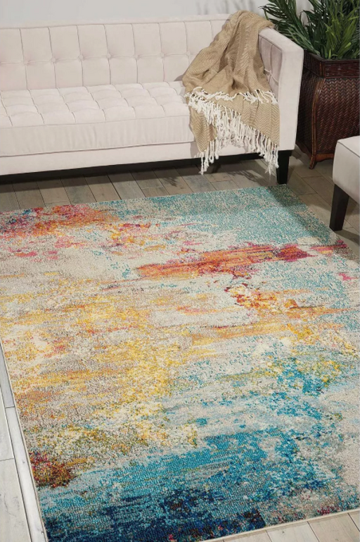 "Size 6'7"" x 9'7"" Color Sealife Celestial Area Rug Colorful Contemporary Abstract By Nourison"