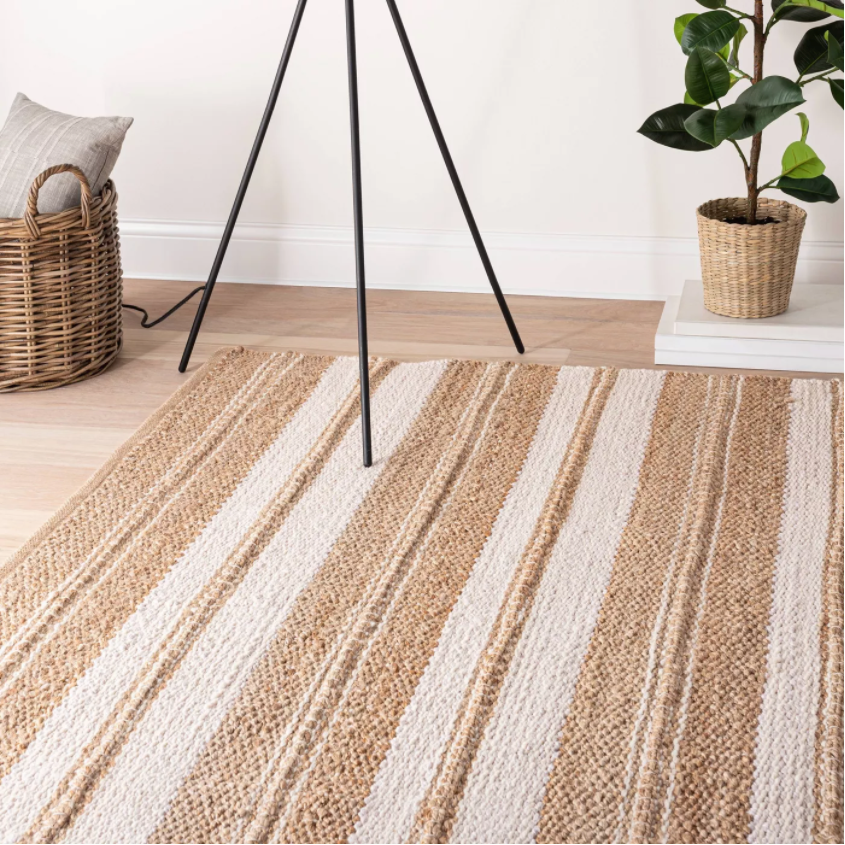 Size 7'x10' Riverton Hand Woven Striped Area Rug Tan - Threshold™ designed with Studio McGee