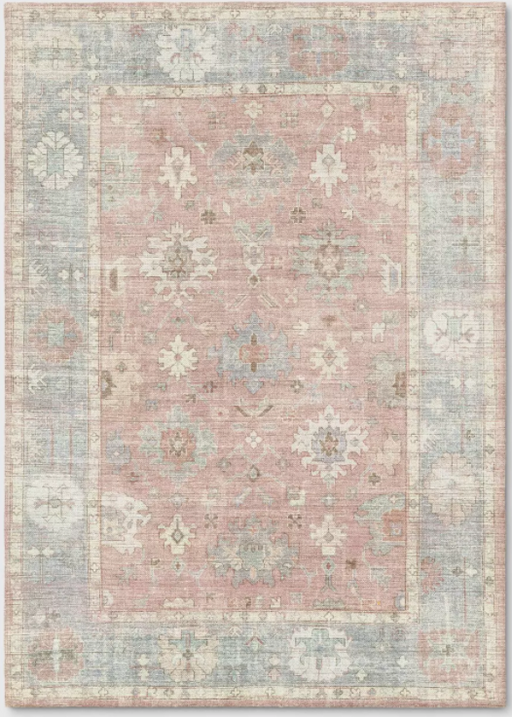 Size 5'x7' Attleboro Digital Print Boarder Perisan Rug Blush - Threshold™