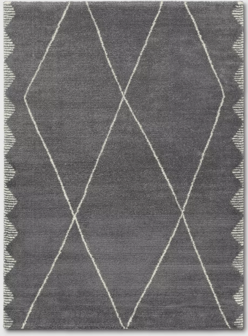 Size 5'X7' Color Charcoal Heather Glacier Diamond Woven Runner Rug - Project 62™