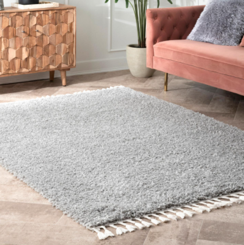 Casual Plush Shag Neva Gray 4 ft. x 6 ft. Area Rug by StyleWell