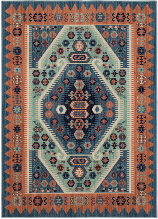 Size 7'X10' Color Blue Buttercup Diamond Vintage Persian Woven Rug - Opalhouse™