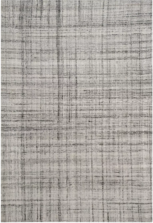 Size 6'X9' Color Gray/Black Connelly Crosshatch Accent Rug - Safavieh