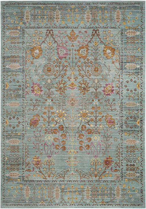 Safavieh Valencia Collection Boho Chic Distressed Area Rug, 5' x 8', Steel Blue
