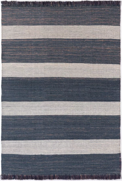 Size 7'x10' Highland Hand Woven Striped Jute/Wool Area Rug Blue - Threshold™ designed with Studio McGee