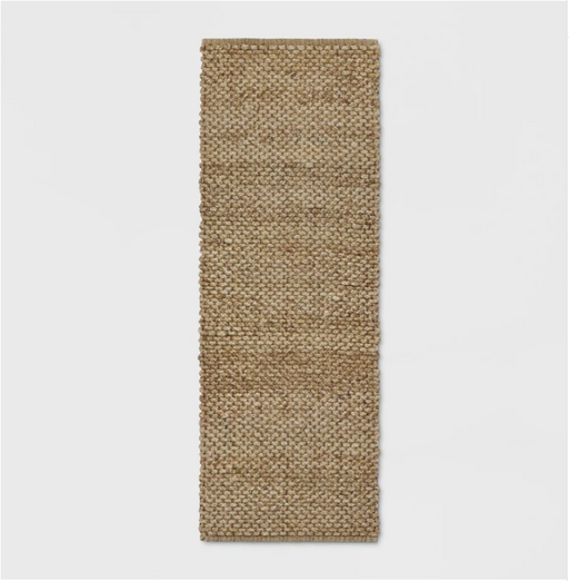 "Size 2'3""X7' RUNNER Woven Runner Rug Solid Natural - Threshold™"