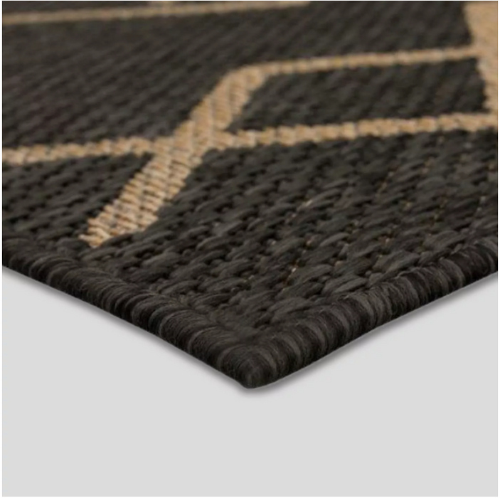 Size 5'x7' Global Diamond Outdoor Rug Black/Tan - Opalhouse™