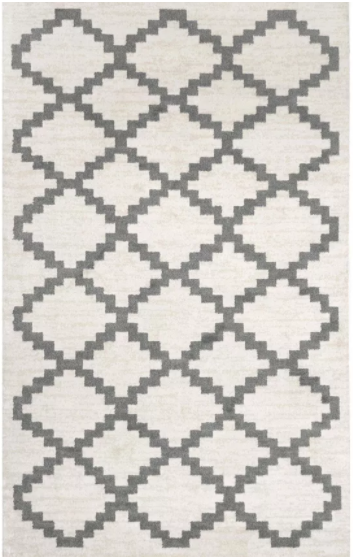 Size: 8' x 10' Color: Cream nuLoom Manor Geometric Faustina Area Rug