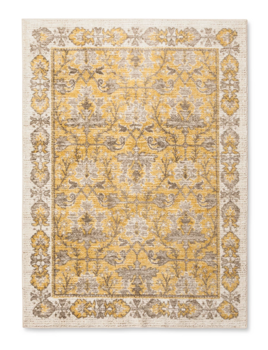 Size 5'X7' Color Yellow Vintage Distressed Rug - Threshold™