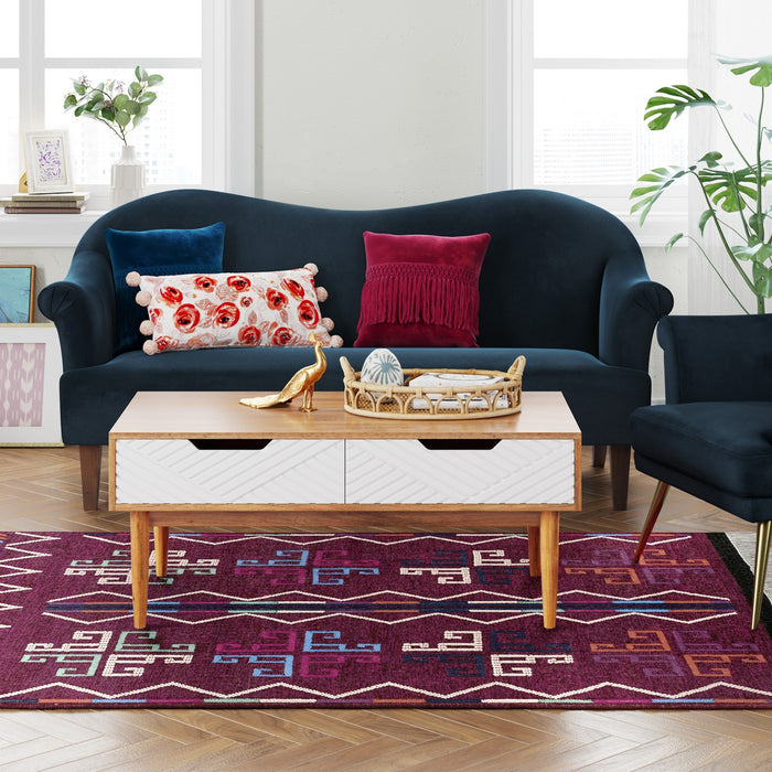 5x7 Flatweave Geometric Fringed Woven Area Rug - Our Price $90 (Currently Selling Online for $149) - YOU SAVE $60!