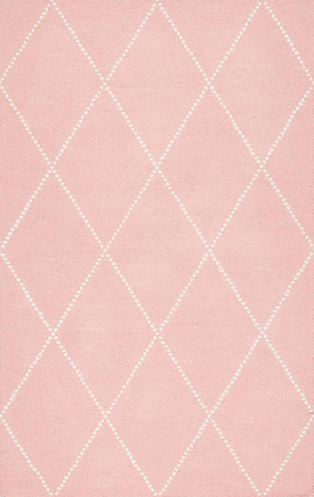 nuLOOM  Hand Tufted Wool Dotted Diamond Trellis Area Rug, 5' x 8', Baby Pink - Our Price $60 (Currently Selling Online for $108) - YOU SAVE $48!
