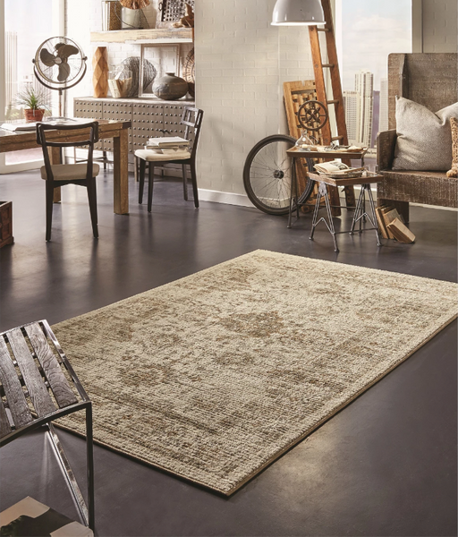 5'x7' Color Tan Vintage Distressed Vintage Distressed Rug - Threshold™