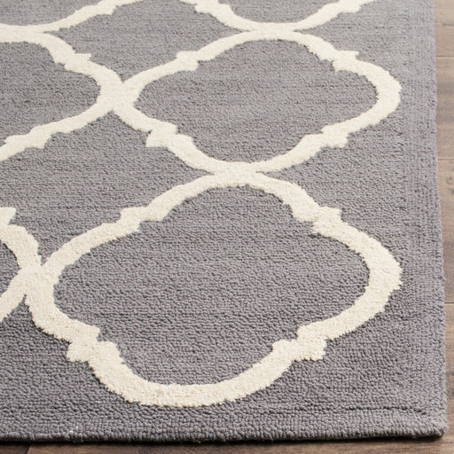 Safavieh Hand-hooked Newport Blue/ Ivory Cotton Rug - 5' X 5' Square