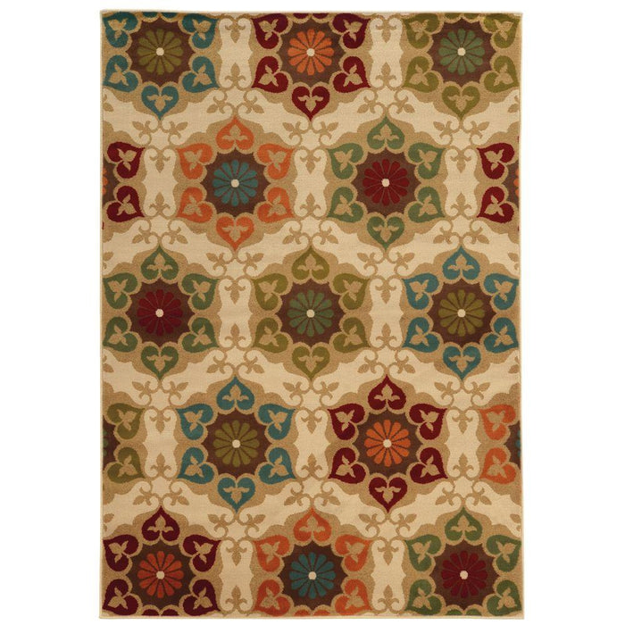 Amelia Medallion Multi 5 ft. x 8 ft. Area Rug