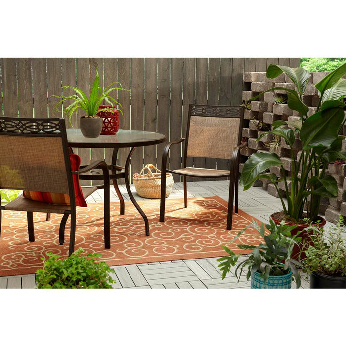 Scroll Terracotta 5 ft. 3 in. x 7 ft. Indoor/Outdoor Area Rug