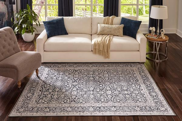 5'x8' Color Charcoal Area Rug By Momeni Afshar