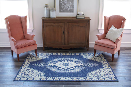5'x8' Color Navy Area Rug By Momeni Anatolia
