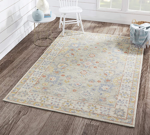 5x8 Light Blue Momeni Anatolia Area Rug