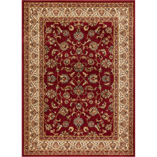 "Barclay Sarouk Red 6'7"" ft. x 9'6"" ft. Traditional Floral Area Rug"