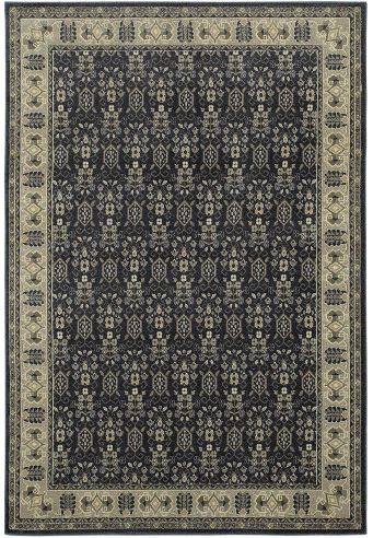 Gianna Indigo 5 ft. x 8 ft. Border Area Rug by Home Decorators Collection