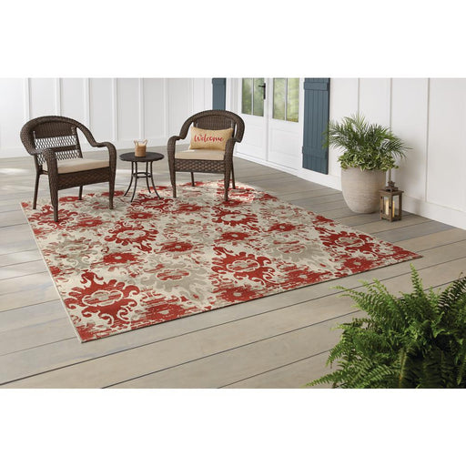5 ft. x 7 ft. Distressed Indoor/Outdoor Area Rug