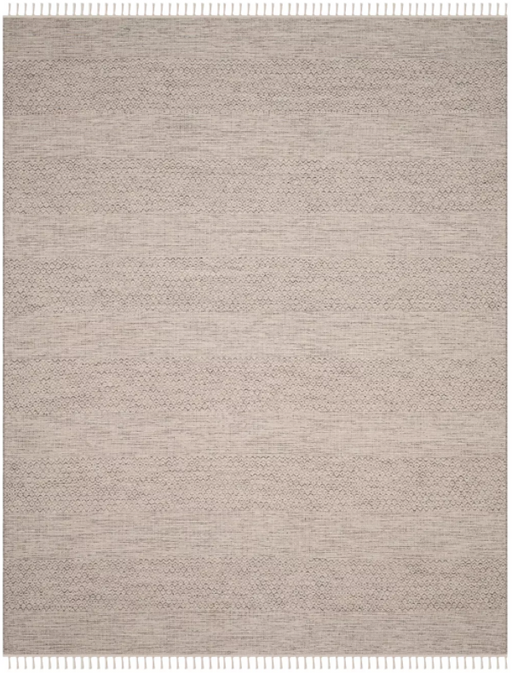 Size 9'x12' Color Ivory/Steel Gray Aubry Woven And Flatweave Rug - Safavieh