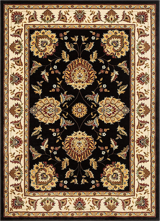 "Well Woven Timeless Abbasi Black Traditional Area Rug 9'2"" X 12'6"""