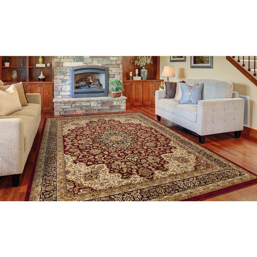 "Size 7'10"" x 9'10"" Color/Finish: Red Medallion Area Rug"