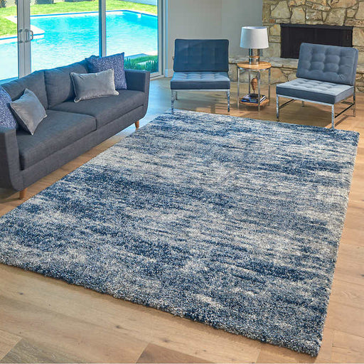 7 ft. 10 in. x 10 ft. Lenox Super Lush Shag Area Rug, Isola Blue Gray