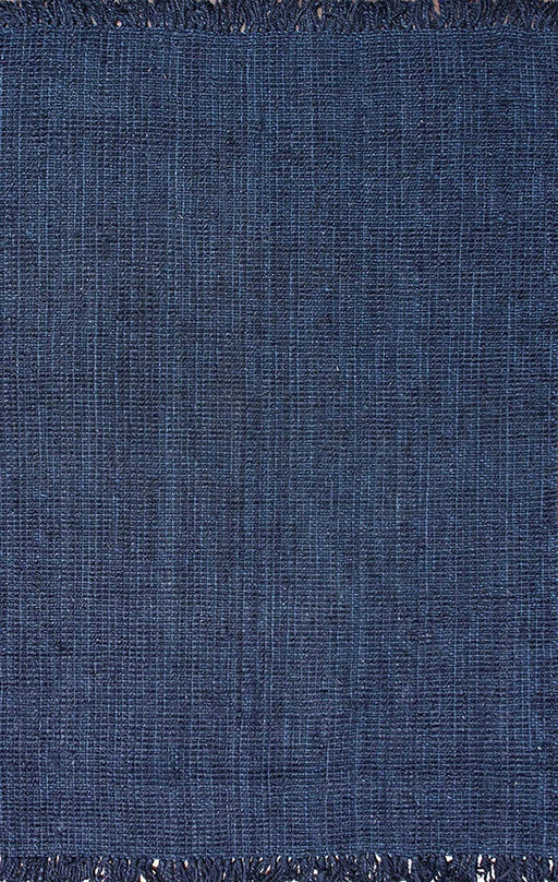 Size:3' x 5' Color:Navy Blue  nuLOOM Natura Collection Chunky Loop Jute Rug