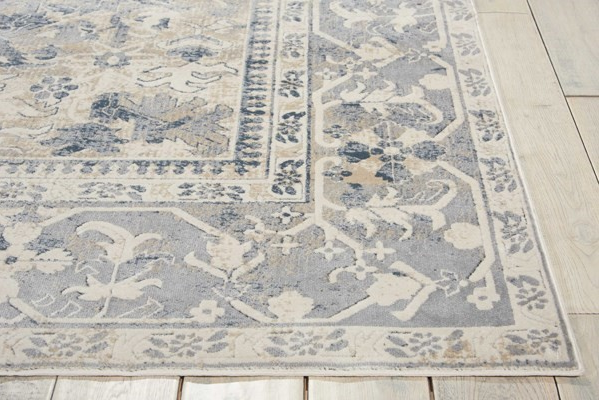 "5'3"" X 7'7"" COLOR(S): Ivory, Blue AREA RUG by Kathy Ireland by Nourison"