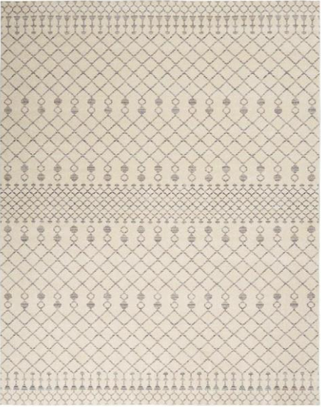 Sagres Beige/Grey 8 ft. x 10 ft. Striped Bohemian Area Rug by StyleWell