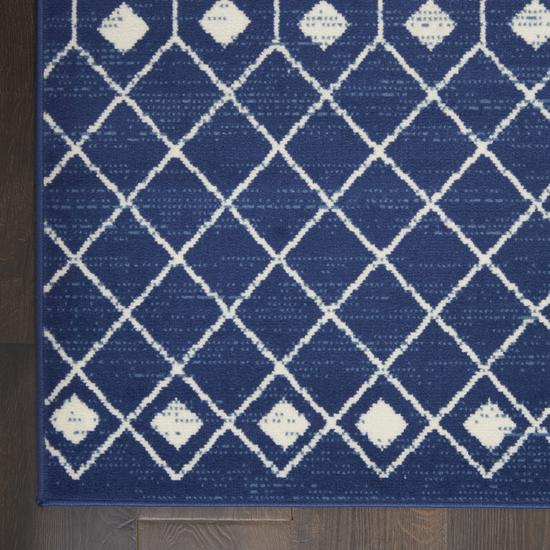 Size 6x9 Color Navy Area Rug by Nourison