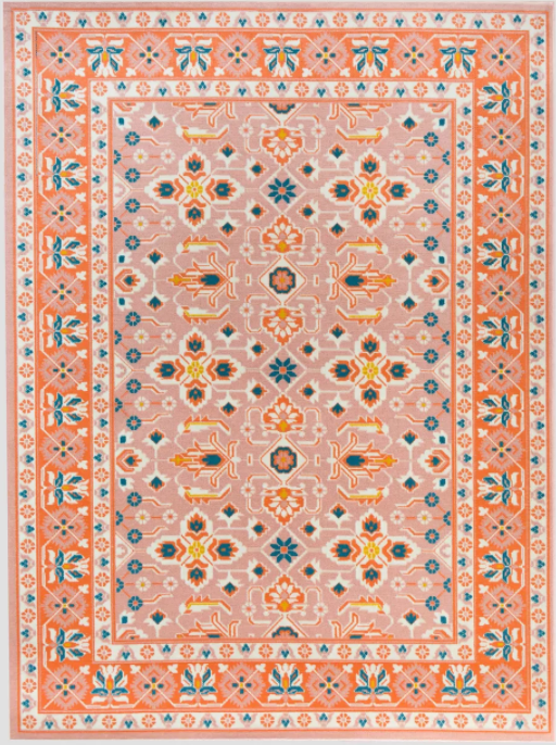 Size 5'X7' Color Orange/Multi Colors Serendipity Outdoor Rug Blush - By Opalhouse™