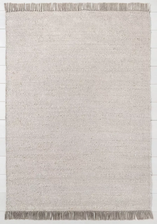 Size 7' x 10' Bleached Jute Rug with Fringe Gray - Hearth & Hand™ with Magnolia